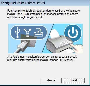 Konfigurasi Utilitas Printer Epson instalasi selesai