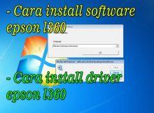 cara install software epson l360 dan driver l360