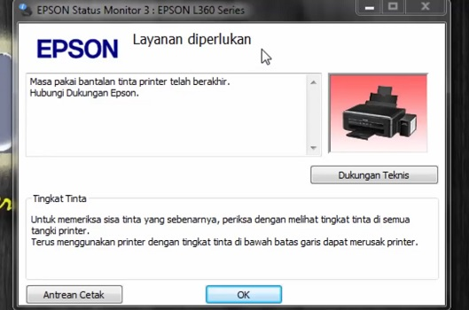 Epson L360 Printer Head Cleaning Software Download
