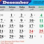 kalender bulan desember 2020