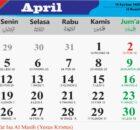 kalender bulan april 2021