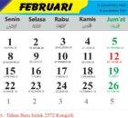 kalender bulan februari 2021
