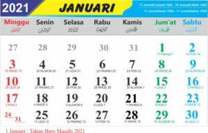 Kalender januari 2021