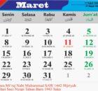 kalender bulan maret 2021