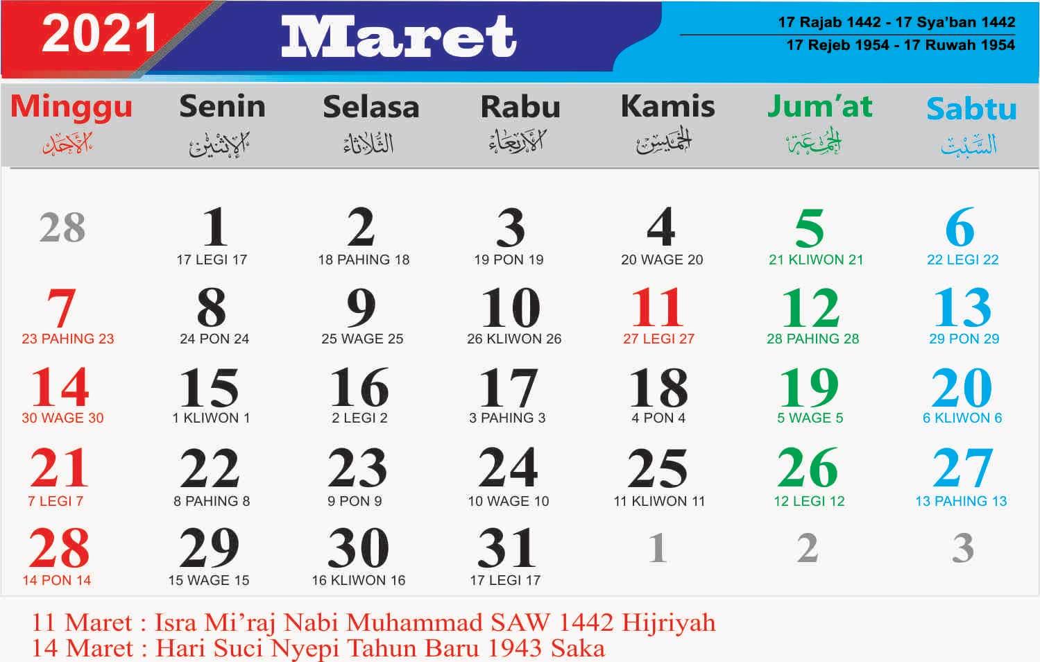 Kalender 2021 Lengkap Jawa Pdf