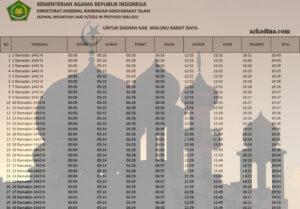 jadwal imsakiyah 2021m-1442h maluku-kab. maluku barat daya