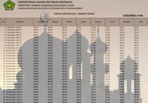jadwal imsakiyah 2021m-1442h nusa tenggara barat-kab. lombok timur